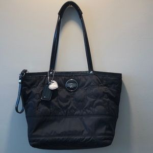 COACH pre-owned black nylon tote